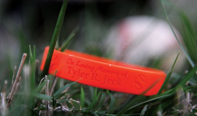 Members of the Baker community have come together to remember Tyler Jeck. Jeck, a freshman at Baker last year, passed away in a boating accident at Beaver Lake, Ark. this summer. An informal memorial service, along with a memory book and wristbands, have been planned to honor Jeck.
