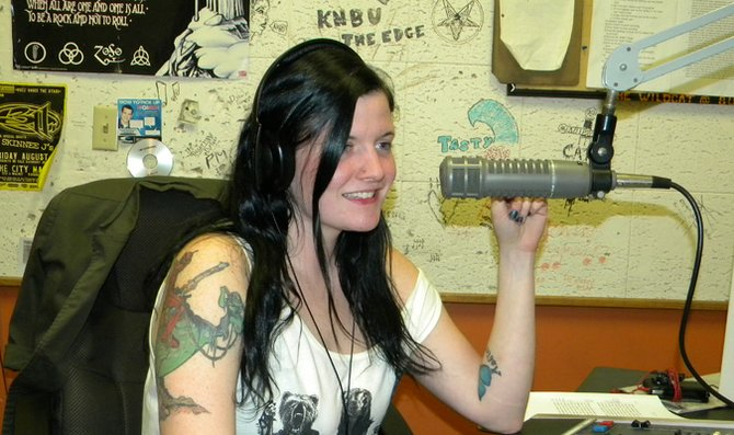 """Senior Cate Richards hosts her show """"The Catacombs"""" every Tuesday from 10 p.m.-Midnight."""