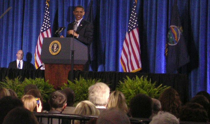 President  Barack Obama stresses the necessity of rejuvenating the middle class during his speech at Osawatomie High School on Tuesday.  The president said creating a more robust, successful middle class is essential to creating a more stable, successful economy.