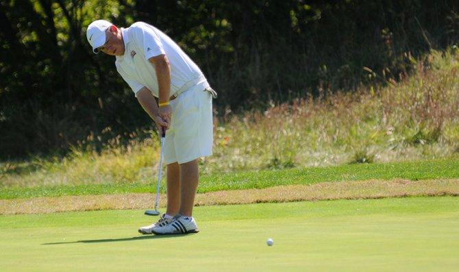 Sophomore Andy Kelley and the Baker University men's golf team finished their first tournament of the spring season at Rivercut Golf Club.