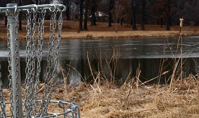 A disc golf course was built around the Baldwin City Lake. The course circles the lake, offering a new form of entertainment for Baldwin City residents.