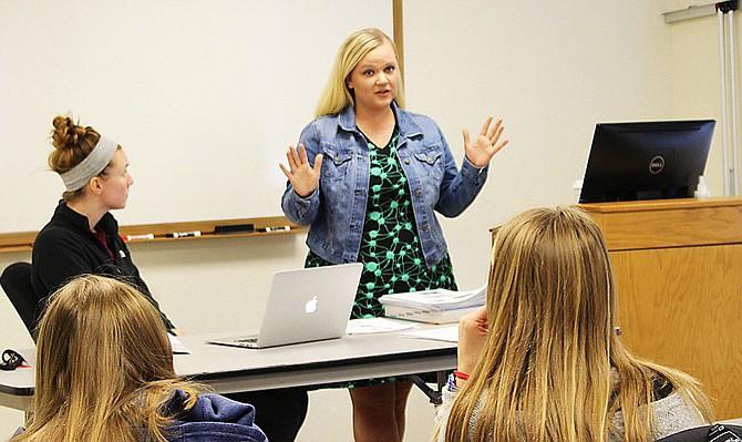Danielle Hemingson teaches the Anatomy and Physiology class.